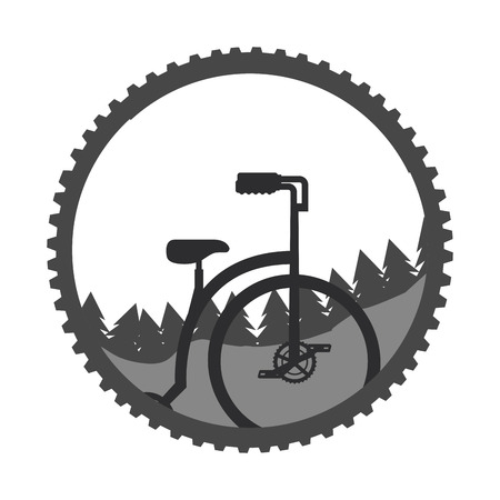 bicycle landscape nature mountains sticker