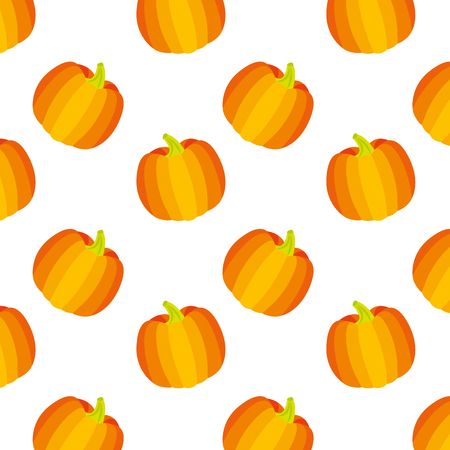 golden pumpkin vegetable fresh pattern vector illustration