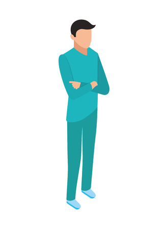 professional doctor in uniform medical healthcare vector illustration