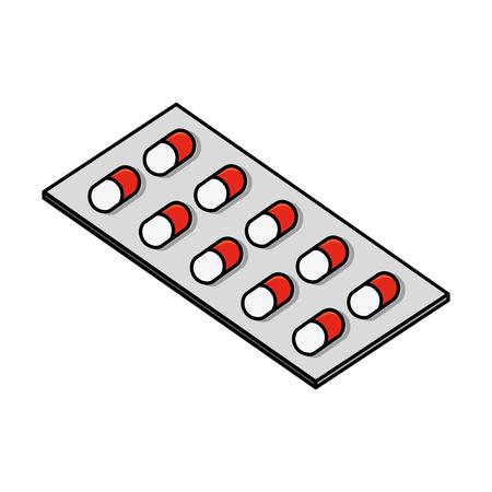 packaging capsule medicine medical healthcare vector illustration Иллюстрация