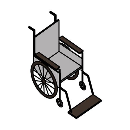 wheelchair equipment support medical healthcare vector illustration