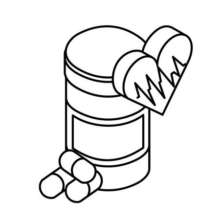 bottle medicine capsule medical healthcare vector illustration Illusztráció