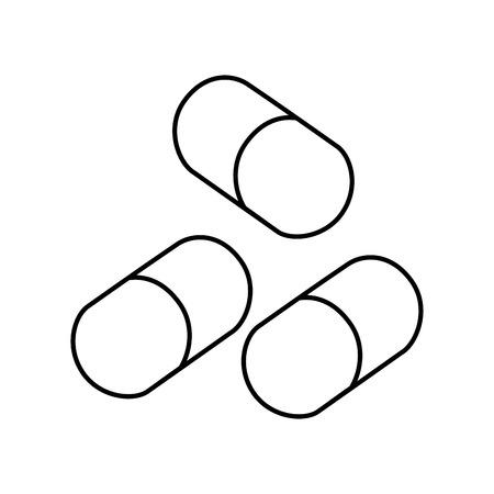 pharmacy pills medicine medical healthcare vector illustration outline Иллюстрация