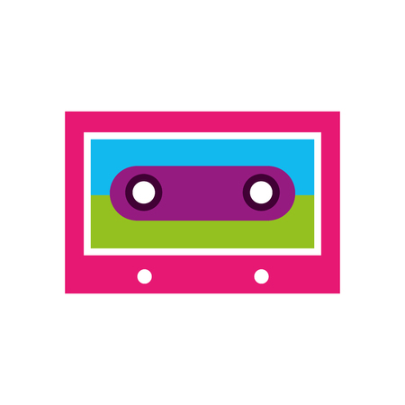 cassette vintage retro hippie style vector illustration