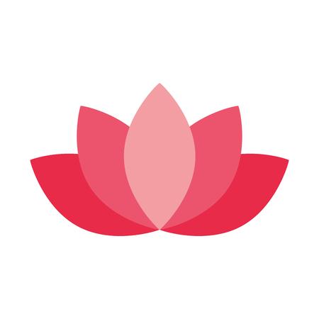 decorazione floreale di loto su sfondo bianco illustrazione vettoriale