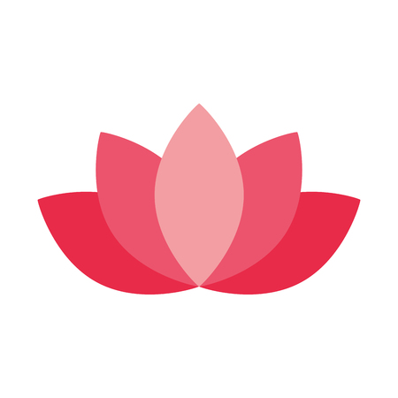 lotus flower decoration on white background vector illustration