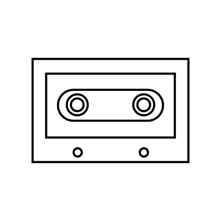 cassette vintage retro hippie style vector illustration outline
