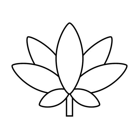 cannabis leaf retro hippie style vector illustration Illustration