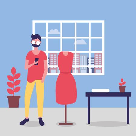 labor day designer office dress vector illustration