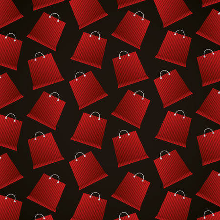 black friday shopping red bags background vector illustration Illustration