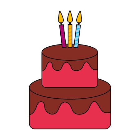 happy birthday celebration cake tasty vector illustration Illustration