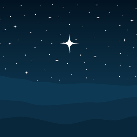 desert night manger scene background vector illustration design  イラスト・ベクター素材