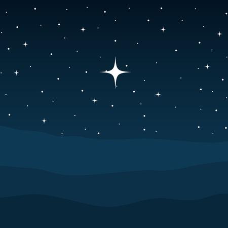 pustynia noc żłobie scena tło wektor ilustracja projekt Ilustracje wektorowe