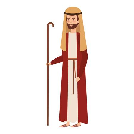 saint joseph christmas character vector illustration design Illustration