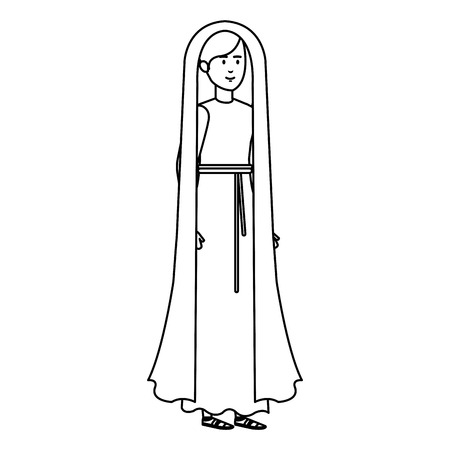 cute mary virgin character vector illustration design Banque d'images - 110297281
