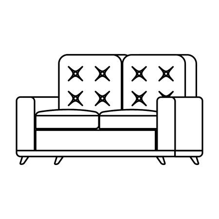 sofa living room isolated icon vector illustration design