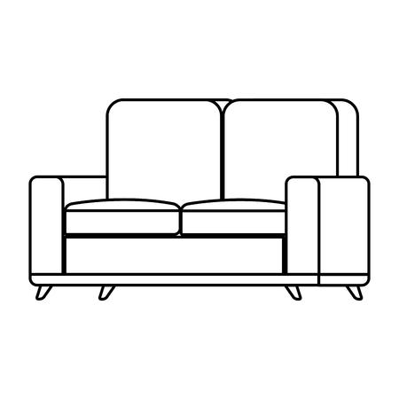 sofa living room isolated icon vector illustration design