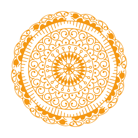 happy diwali card with mandala vector illustration design