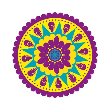 felice diwali card con mandala illustrazione vettoriale design