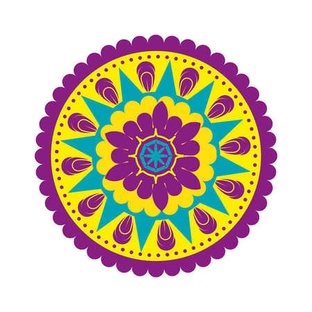 glückliche Diwali-Karte mit Mandala-Vektor-Illustrationsdesign