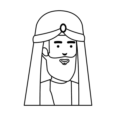 wise kings manger characters vector illustration design