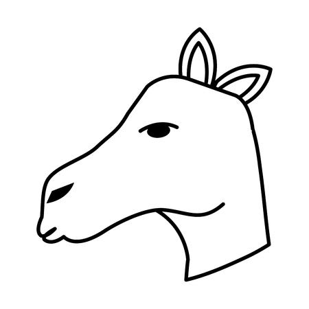 cute camel head desert animal vector illustration design