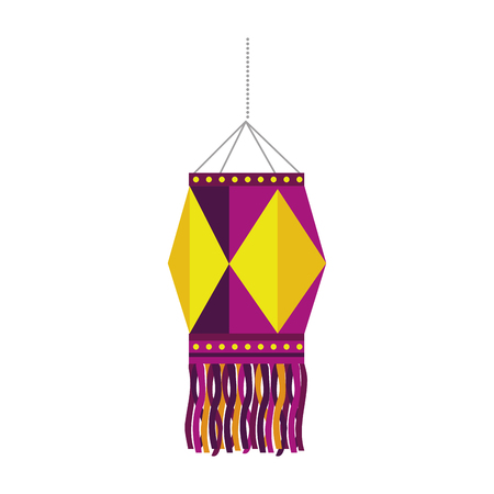 diwali lantern hanging icon vector illustration design Illustration