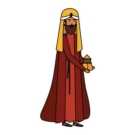 wise kings manger characters vector illustration design Ilustração