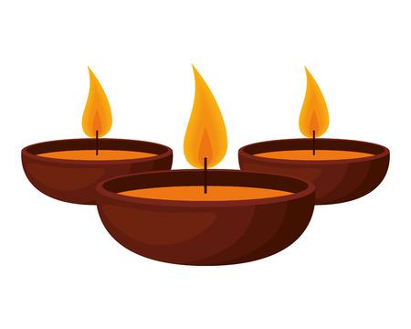 aromatherapy set candles icons vector illustration design Vecteurs
