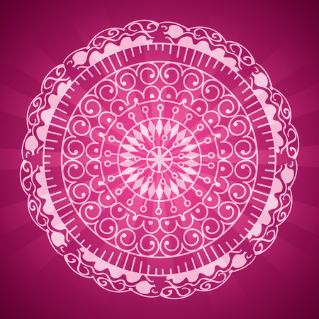 Carte de diwali heureux avec mandala vector illustration design