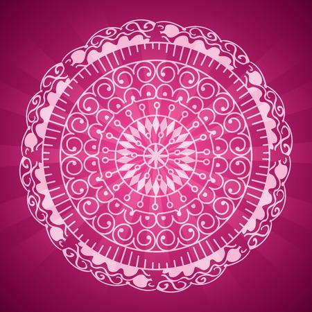 happy diwali card with mandala vector illustration design Stock Vector - 110316047
