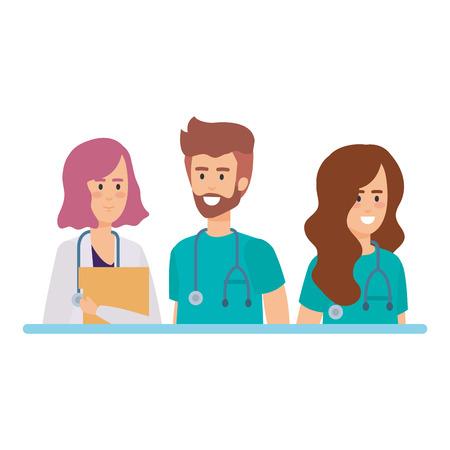 group of doctors medical staff vector illustration design