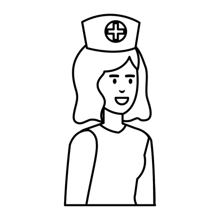 beautiful nurse medical character vector illustration design