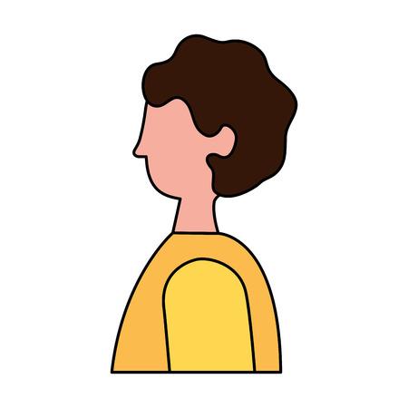 man character cartoon portrait on white background vector illustration Illustration