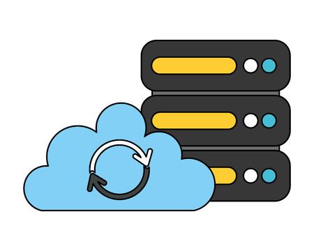 cloud computing database fin tech business vector illustration