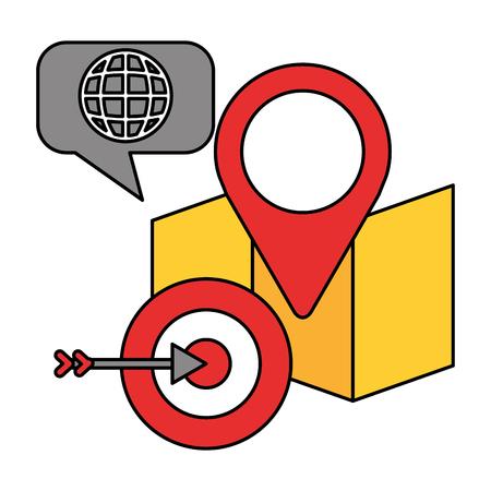 gps navigation map target data technology vector illustration 向量圖像