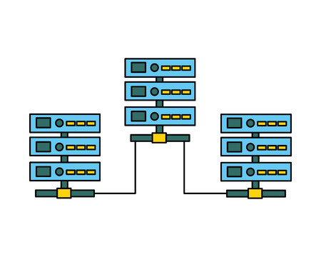 database server center technology connection vector illustration Stock Vector - 110405895