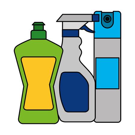 bottle spray bottle cleaning equipment vector illustration
