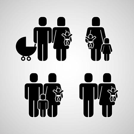 Groupe de personnes communauté familiale pictogramme vector illustration