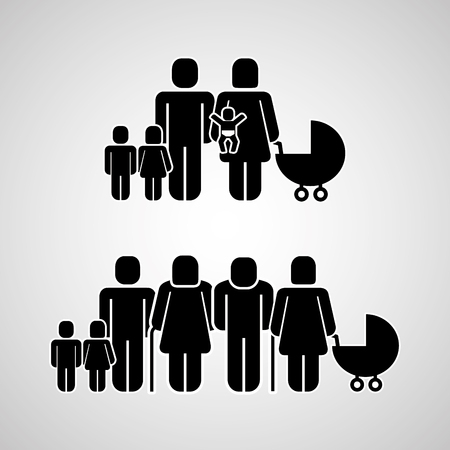 people group family community pictogram vector illustration