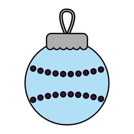 merry christmas blue ball decoration vector illustration 일러스트