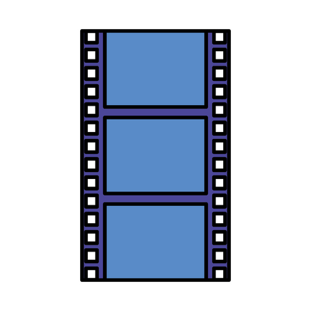 cinema film movie strip on white background vector illustration