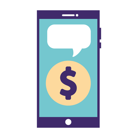 technology smartphone donation money charity vector illustration