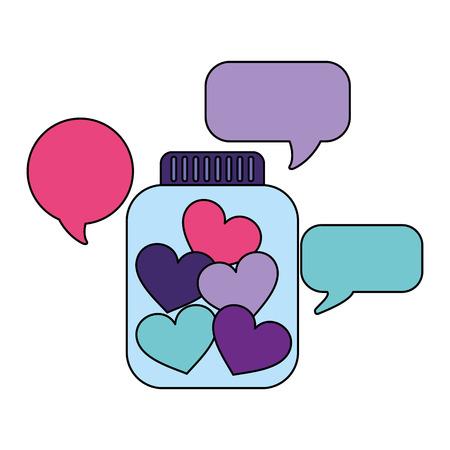 help bubbles bottle donate charity vector illustration Illusztráció