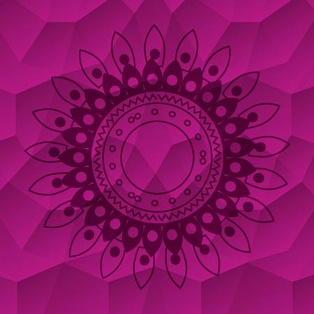 happy diwali card with mandala vector illustration design Stock Vector - 110631482