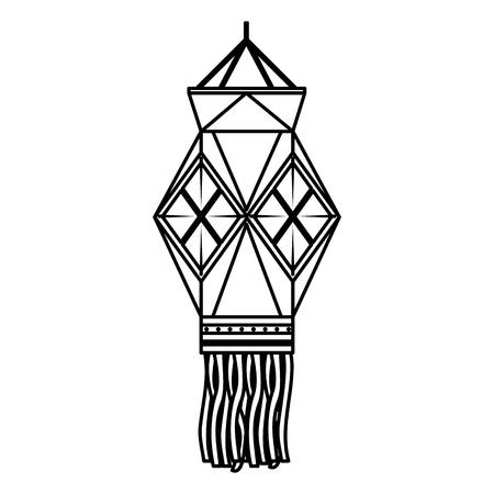 diwali lantern hanging icon vector illustration design Ilustração