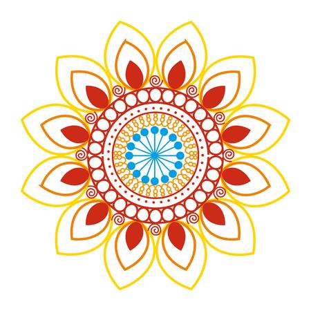 happy diwali card with mandala vector illustration design Stock Vector - 110633929