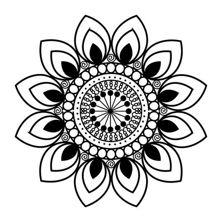 happy diwali card with mandala vector illustration design Stock Vector - 110633938