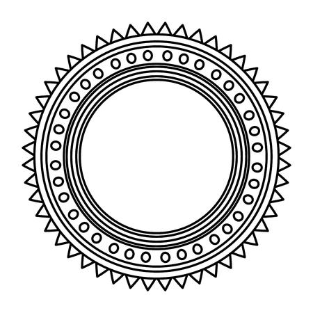 happy diwali card with mandala vector illustration design Stock Vector - 110633939