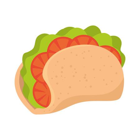 taco mexican food icon vector illustration design  イラスト・ベクター素材